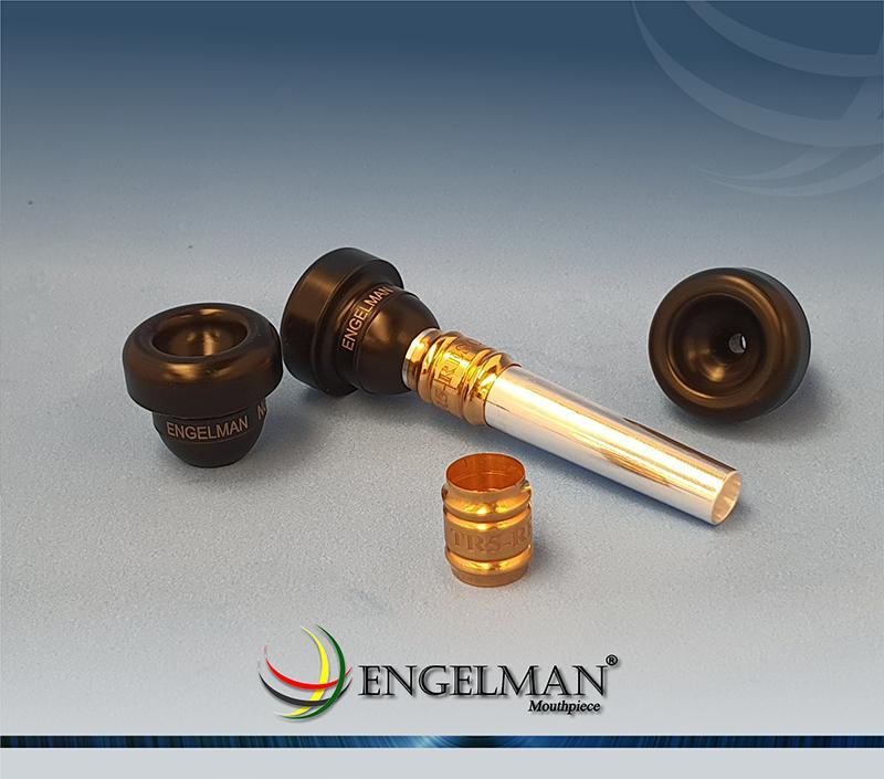 Bocal de rosca com taça em polímero anilha com acabamento em ouro - Standard