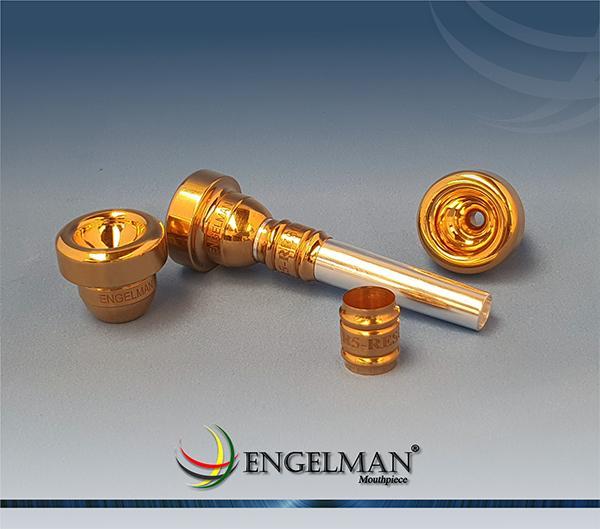 Bocal de rosca com taça com acabamento em ouro e anilha com acabamento em ouro - Standard