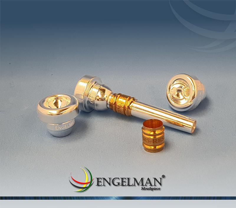 Bocal de rosca com taça com acabamento em prata anilha em ouro - Standard