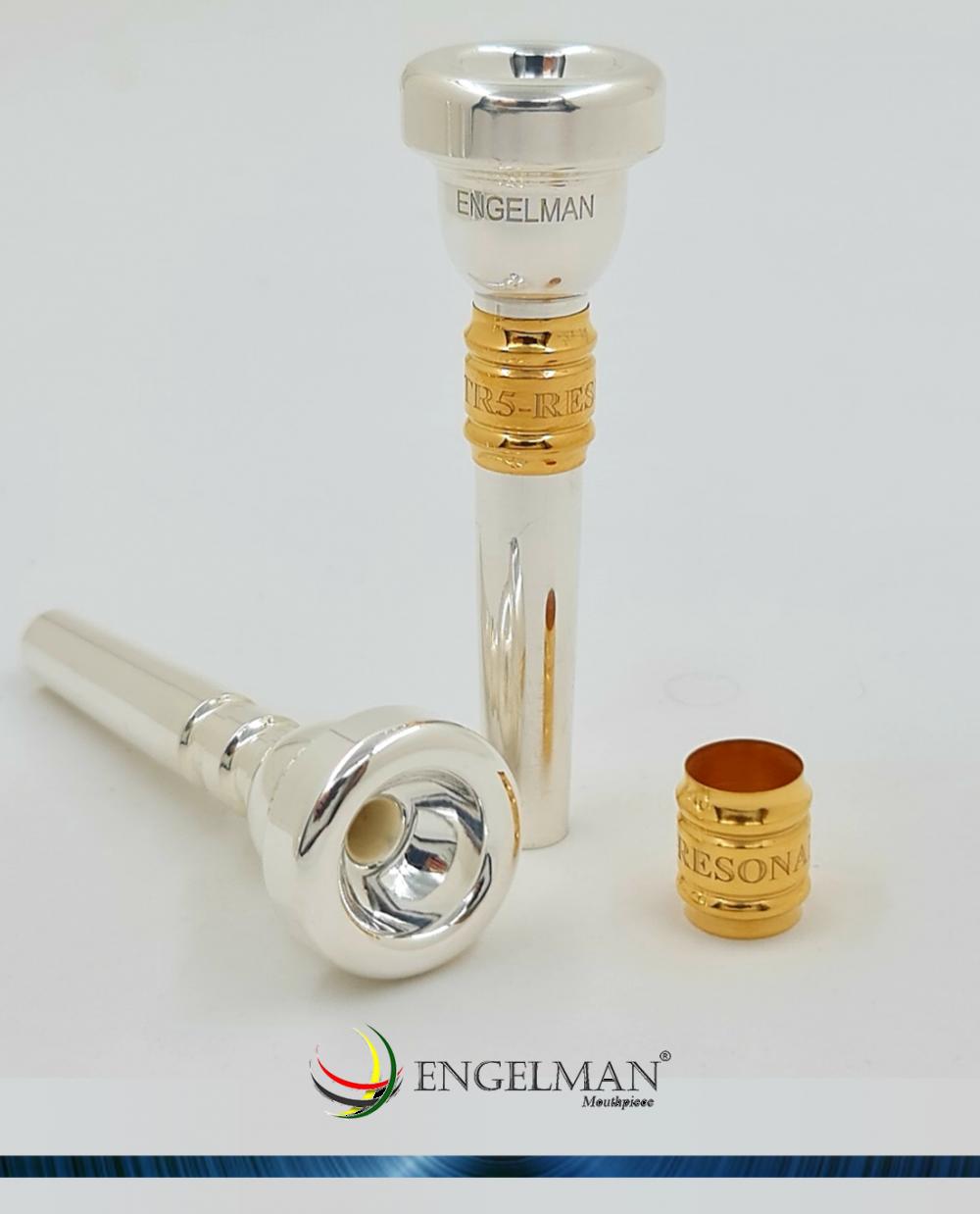 Bocal inteiriço em prata e com ressonador em ouro - Standard